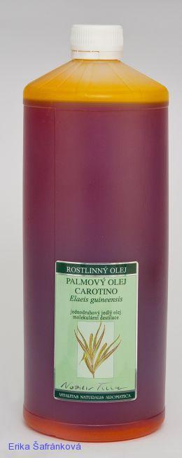 PALMOVÝ OLEJ CAROTINO, 5000 ml jednodruhový jedlý olej, fialové sklo