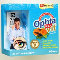 OPHTAVIT® MAX- 90 tbl., pro zdravý zrak po celý život Na oči profesionálně