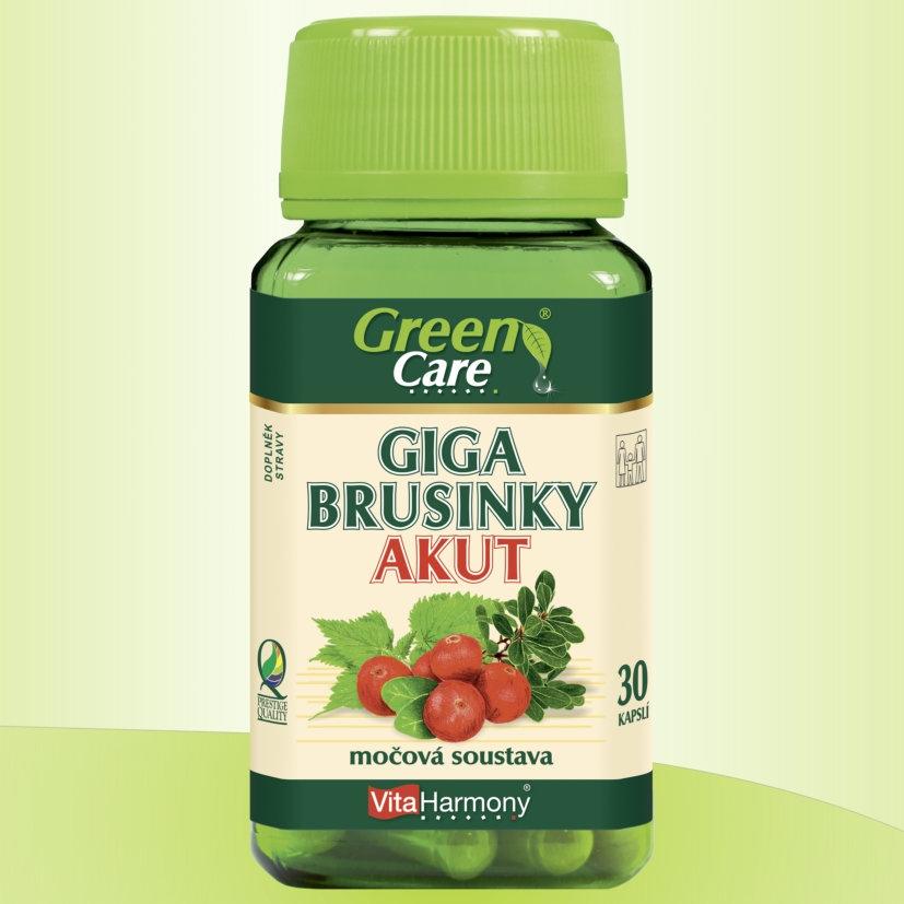 Giga Brusinky AKUT - 30 kapslí, doplněk stravy Pro zdraví močových cest
