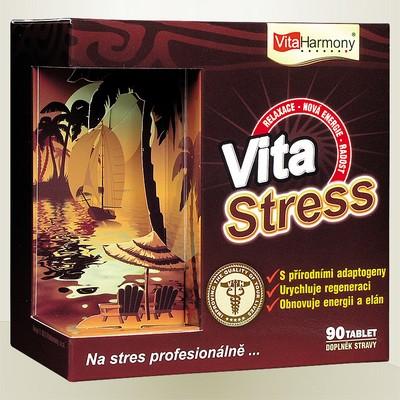 VITASTRESS - 90 tbl., při nadměrné a stresové zátěži Na stres profesionálně