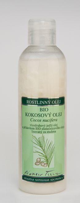 KOKOSOVÝ OLEJ BIO 200 ml vícedruhový jedlý olej s přídavkem BIO slunečnicového oleje lisovaný za studena