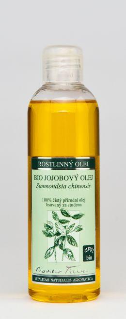 JOJOBOVÝ OLEJ BIO - 200 ml 100% čistý přírodní olej lisovaný za studena