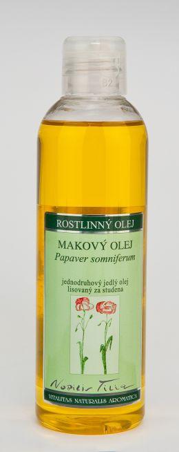 MAKOVÝ OLEJ - 200 ml jednodruhový jedlý olej lisovaný za studena