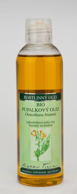 PUPALKOVÝ OLEJ BIO - 200 ml jednodruhový jedlý olej lisovaný za studena
