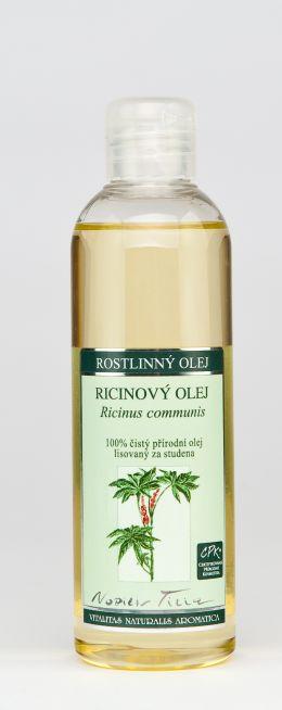 RICINOVÝ OLEJ - 200 ml 100% čistý přírodní olej lisovaný za studena