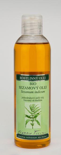 SEZAMOVÝ OLEJ BIO - 200 ml jednodruhový jedlý olej lisovaný za studena