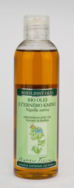 ČERNÝ KMÍN BIO - 200 ml jednodruhový jedlý olej lisovaný za studena