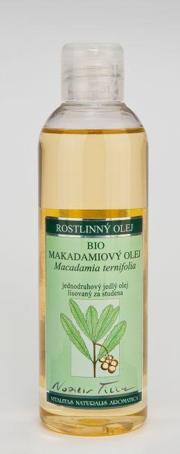 MAKADAMIOVÝ OLEJ, 200 ml jednodruhový jedlý olej lisovaný za studena