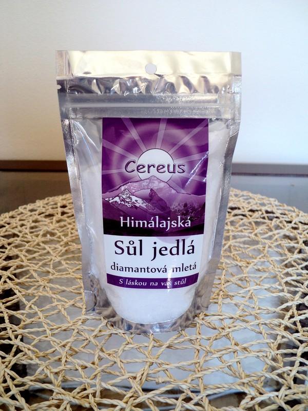 Diamantová sůl mletá, sáček 200g himálajská jídelní sůl Cereus